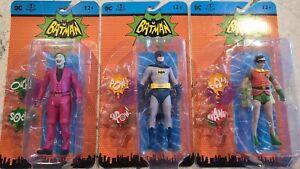 "Retro Batman Classic TV Series JOKER, BATMAN & ROBIN  6"" Action Figure McFarlane"