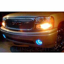 2001-2006 GMC Yukon Denali Blue Halo Angel Eye Fog Lamps Driving Lights Kit