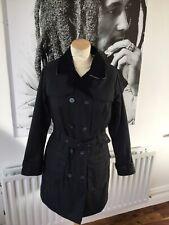BARBOUR designer navy Wax trenchcoat size UK 10
