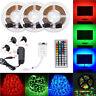 3528 RGB DIY Dimming LED Strip Light Color Changing SMD 44 Key Remote DC 12V Kit