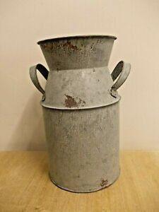 Galvanised Metal Milk Churn Tin Churn Flower Vase Plant Pot NEW