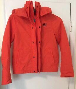 Abercrombie Kids Boy Lined Hoodie  Coat Jacket Orange Size M