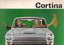 Ford Cortina Mk1 1965-66 UK Market Foldout Brochure De Luxe Super GT Estate