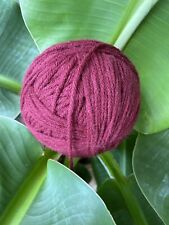 New ListingBurgundy Wine Yarn Ball Acrylic New Impeccable: Loops And Thread Laine Bordeaux