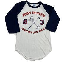 Vintage 1983 John Denver 80s Raglan T Shirt 2 Sided Concert Roadie Tee Unisex