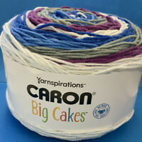 NEW! Caron BIG  Cakes Yarn, Blueberry Pudding, 10.5oz 603 Yards, #4 Weight