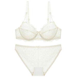 Women Bras Set Hollow Sexy Lingerie Lace Breathable Underwired Support Brassiere