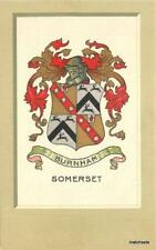 Crest Coat of Arms UK Burham Somerset Pople Churchill postcard 7873