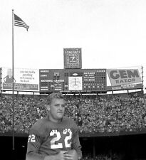 BOBBY LAYNE 1957 DETROIT LIONS AT TIGER STADIUM 8X10 PHOTO From the NEGATIVE!