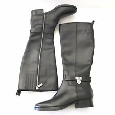 Michael Kors Boots Size 6 Women Black Tall Leather Round Toe Low Heel Michael