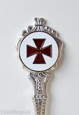 Knights Templar Cross-Pattée Silver-Plated Masonic Collector's Spoon - K032S