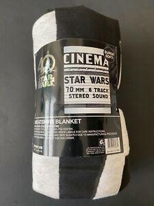 "STAR WARS SWEATSHIRT BLANKET [NEW, 2017] - 60"" x 90"" - MARQUEE GRAPHIC -"