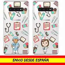 Funda Movil Samsung Profesion Enfermero Enfermera Nurse Gel Transparente Dibujo