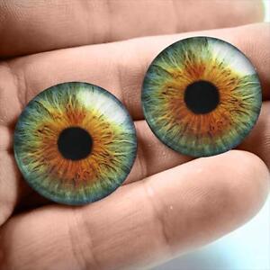 20mm Glass Taxidermy Hazel Green Human Doll Eyeballs