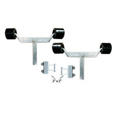 Boat Trailer Wobble Roller Dual Fixed Conversion Kit. Boat Roller Upgrade Kit.