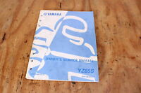 Yamaha YZ85S YZ85 OEM Owners Service Manual