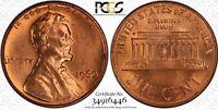 1960-D/D 1C PCGS MS64RD LD FS-502; 24 in Top 50! TrueView -RicksCafeAmerican.com