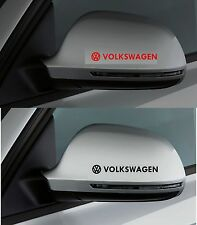 Para Volkswagen VW 2 X Ala Espejo Coche Decal Sticker Polo Golf 100mm de largo