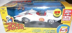 "SPEED RACER MACH 5 ERTL 12"" 3LB DIECAST wACCESRS American Muscle 35th ANNIV. MIB"