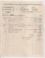facture  platrerie peinture , les eyzies    1942    c5