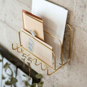 Letter Holder Book Organiser Iron Rack Simple Gold Desk Holder Home Accessories