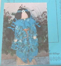 "Native American Cloth rag doll INdian Maiden 22"" pattern"