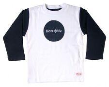 """NWT Liten Jag Sweden Cotton T-shirt """"Kan själv"""" (Do it myself) Navy 4 Years 1008"""