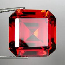 200+ Cts Huge Asscher Emerald (30x30 MM) Lab Simulated Orangish Red Diamond N6