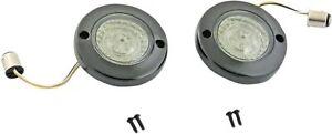 Probeam Gloss Black Flat Bezel Dynamic Ringz LED Front Turn Signal Inserts