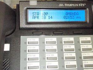 Blue Back-lit Vodavi 24 button speaker display for STSe (3501's) PN: 3516-71 Ref