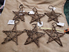 "6"" Grapevine Twig Wreath Stars Lot of 6"