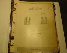 1970 SKI-DOO SNOWMOBILE PARTS MANUAL T'NT, BLIZZARD RACERS PLEASE READ