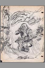 1972 Signed Neal Adams Phantom Stranger #19 Original Cover Prelim Art DC HORROR