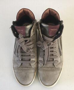 Geox Respira Boys High Top Sneakers Size 5 1/2