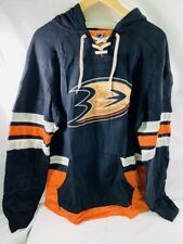 ANAHEIM DUCKS Hockey CCM Jersey Style Sz Medium M  Hoodie NHL Sweatshirt