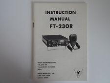 YAESU FT-230R (Véritable Imprimé Manuel d'instructions uniquement)... radio _ Trader _ Irlande.