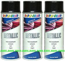 3x400ml Lackspray Metalliklack Sprüdose Acryllack metalleffekt Metallic Schwarz