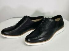 Cole Haan Original Grand Wing II Black Optic White Size 9B New W Box