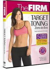 THE FIRM TARGET TONING ZERO IN 10 New Sealed DVD 5 10-Minute Workouts