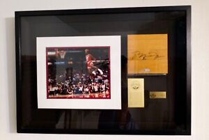Michael Jordan Signed Autographed UDA COA Chicago Stadium Floor Framed Shadowbox