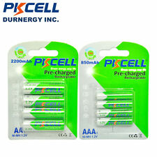Combo 4 AA + 4 AAA 2200mAH 850mAh LSD NiMH Pre-charged Rechargeable Batteries