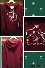Men's True Religion Buddha Brand Pullover Hoodie XXL Ox Blood NWT