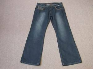 """XMAIL STRETCH BOOTCUT DARK BLUE WITH FADE EFFECT JEANS EUR 44 APPROX UK 16 L32"""""""