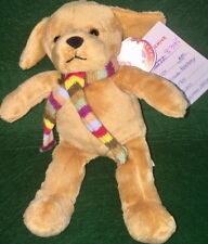 """The Cheesecake Factory 2007 Brown DOG 8"""" Bean Bag Plush + To/From & Archive Tag!"""