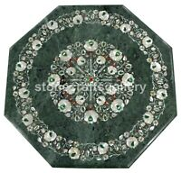 "24"" Marble Top Coffee Table Mother of Pearl Floral Inlay Restaurant Decors B190A"