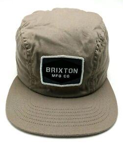 BRIXTON 3-PANEL CADET-STYLE brown adjustable cap / hat - size 7 1/4 : M / L