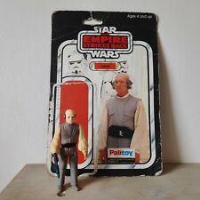 Star Wars vintage Lobot figure with blaster & Empire backing card
