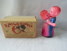 Vintage Dancing Couple Celluloid Wind Up Toy w/ Key Occupied Japan w/ Box