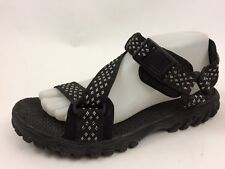 f12b1cca1028fa Reebok Mens 7 M Black White Ankle Strap Sport Sandals Walking Hiking Trail  Shoes
