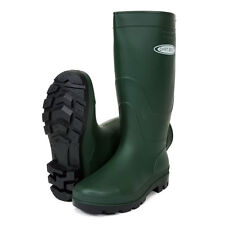 Dirt Boot® Ladies Mens Black & Green Festival Wellington Boots Wellies Gardening